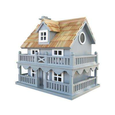 Novelty Cottage Birdhouse (Blue)