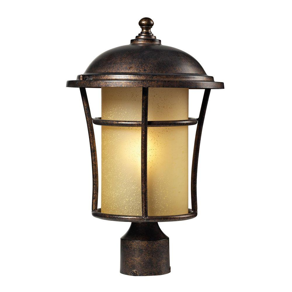 Titan Lighting Bolla Vista 1-Light Outdoor Regal Bronze Post Light