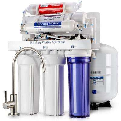 Maximum Performance Under Sink Reverse Osmosis Water Filtration System w/ Booster Pump and Alkaline Filter