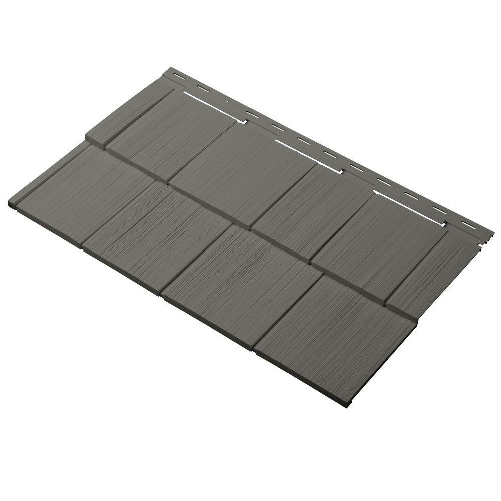 Cedar Dimensions Shingle 24 in. Polypropylene Siding Sample in Shadow