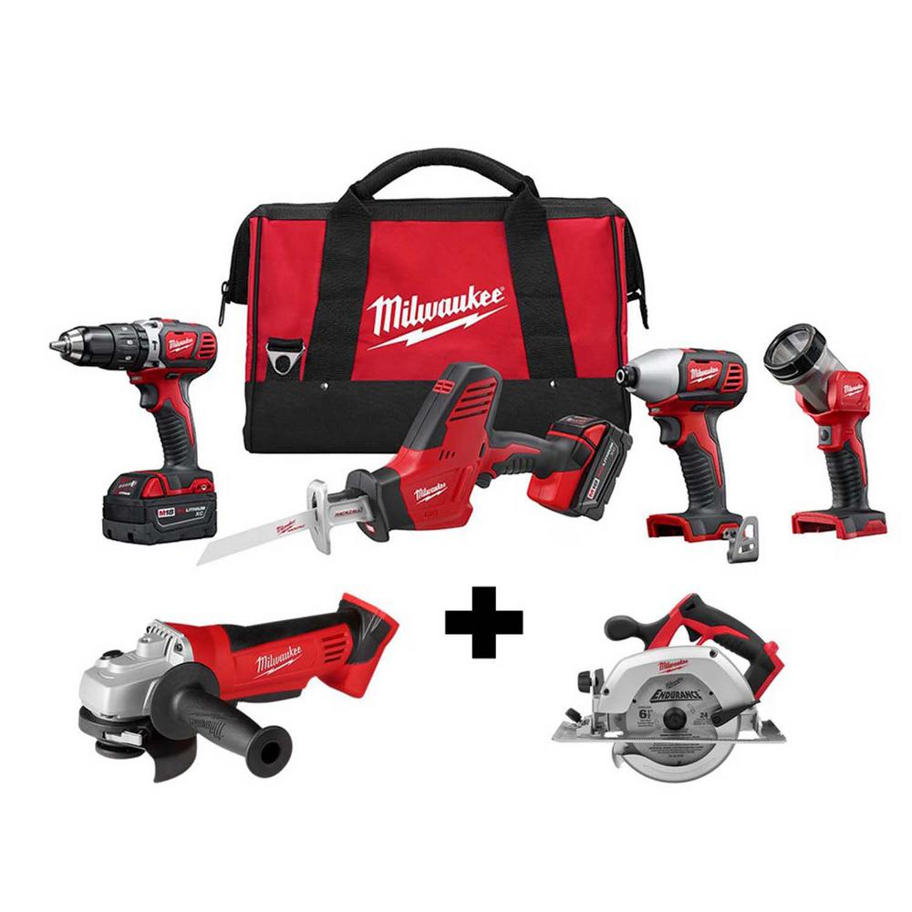 Milwaukee M18 18-Volt Lithium-Ion Cordless Combo Tool Kit (4-Tool) with Free M18 4-1/2 in. Grinder and 6-1/2 in. Circular Saw was $687.0 now $349.0 (49.0% off)