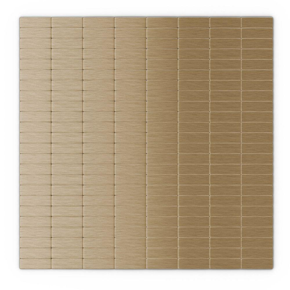 inoxia speedtiles urbain lc light copper 11 42 in x 11 57 in x 5 rh homedepot com Self Adhesive Glass Wall Tile Wall Tiles Self Adhesive Vinyl