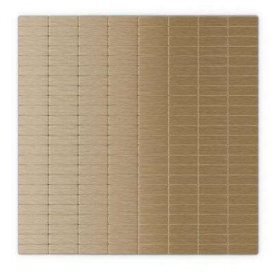 Urbain LC Light Copper 11.42 in. x 11.57 in. x 5 mm Metal Self-Adhesive Wall Mosaic Tile