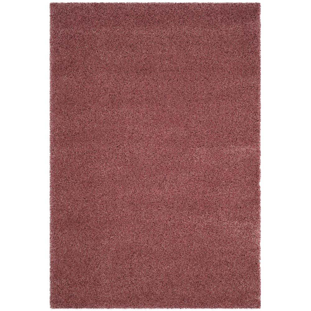 California Shag Rose 8 ft. x 10 ft. Area Rug