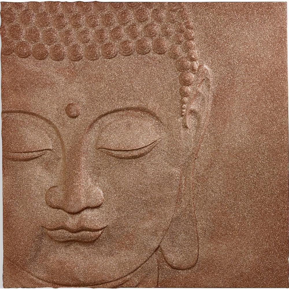 Glitter Peace Buddha Resin Wall Art