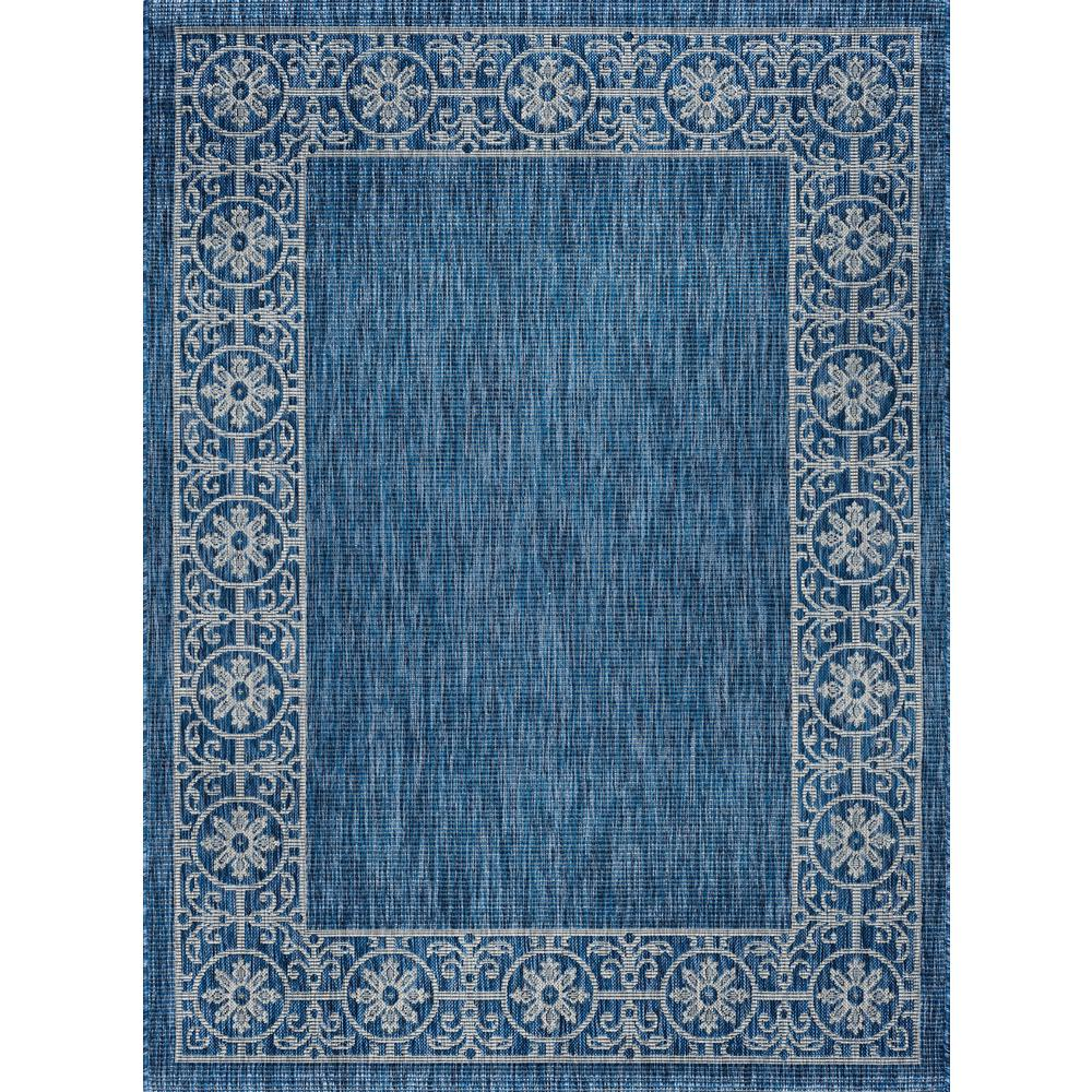 Outdoor Rug 7 X 10: Tayse Rugs Veranda Indigo 7 Ft. X 10 Ft. Indoor/Outdoor