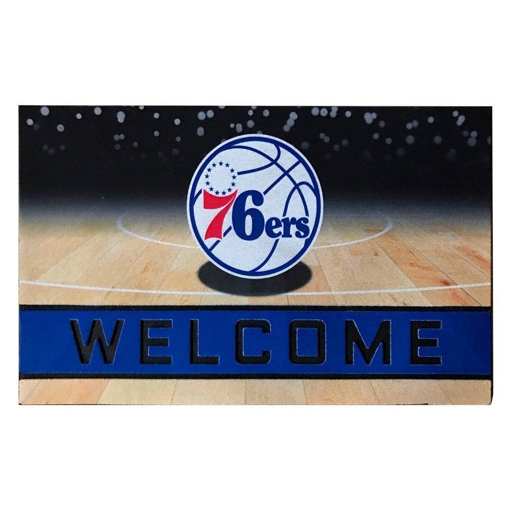 NBA - Philadelphia 76ers 18 in. x 30 in. Rubber Door