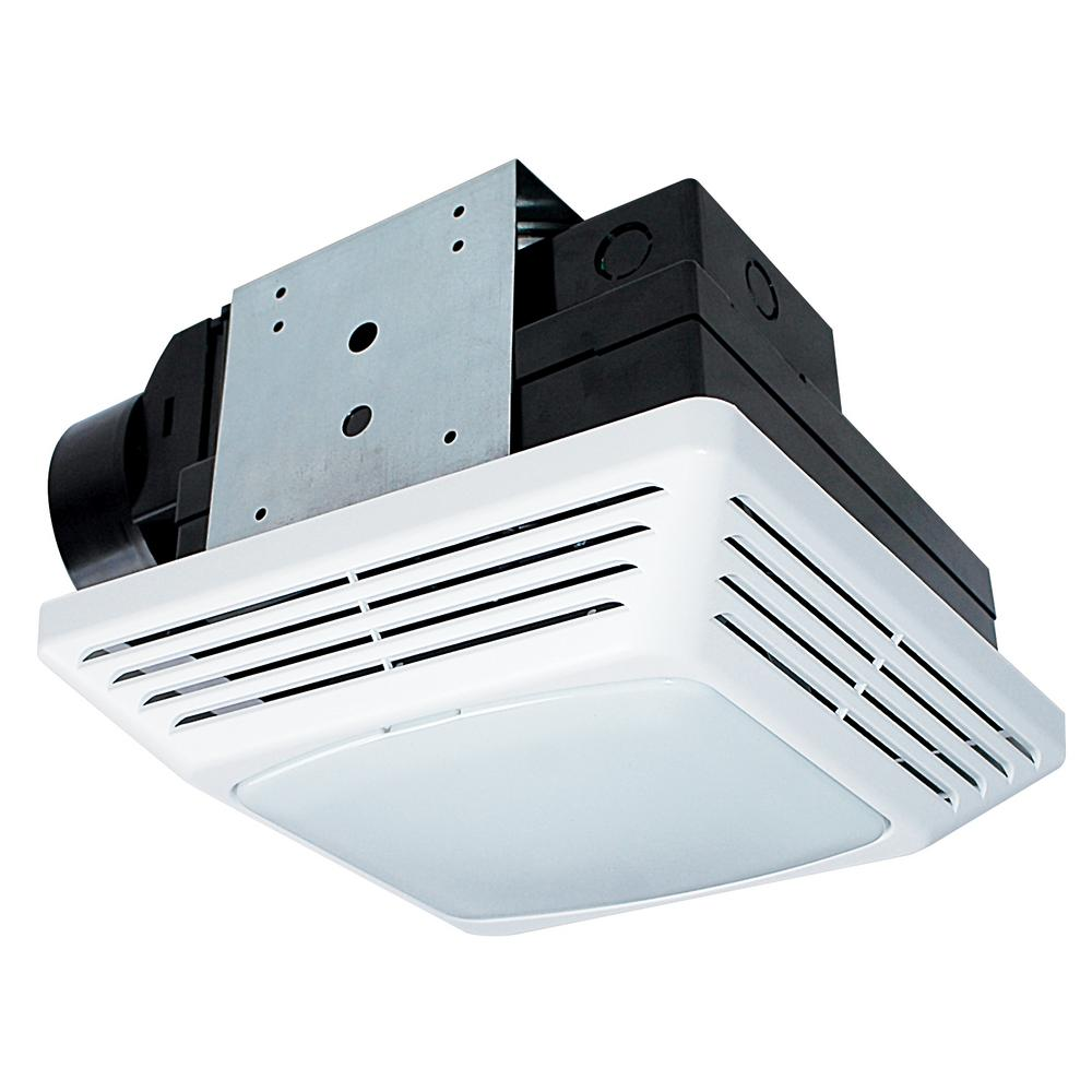 Nutone 50 cfm ceiling exhaust bath fan with light 763n for Bathroom exhaust fan with led light