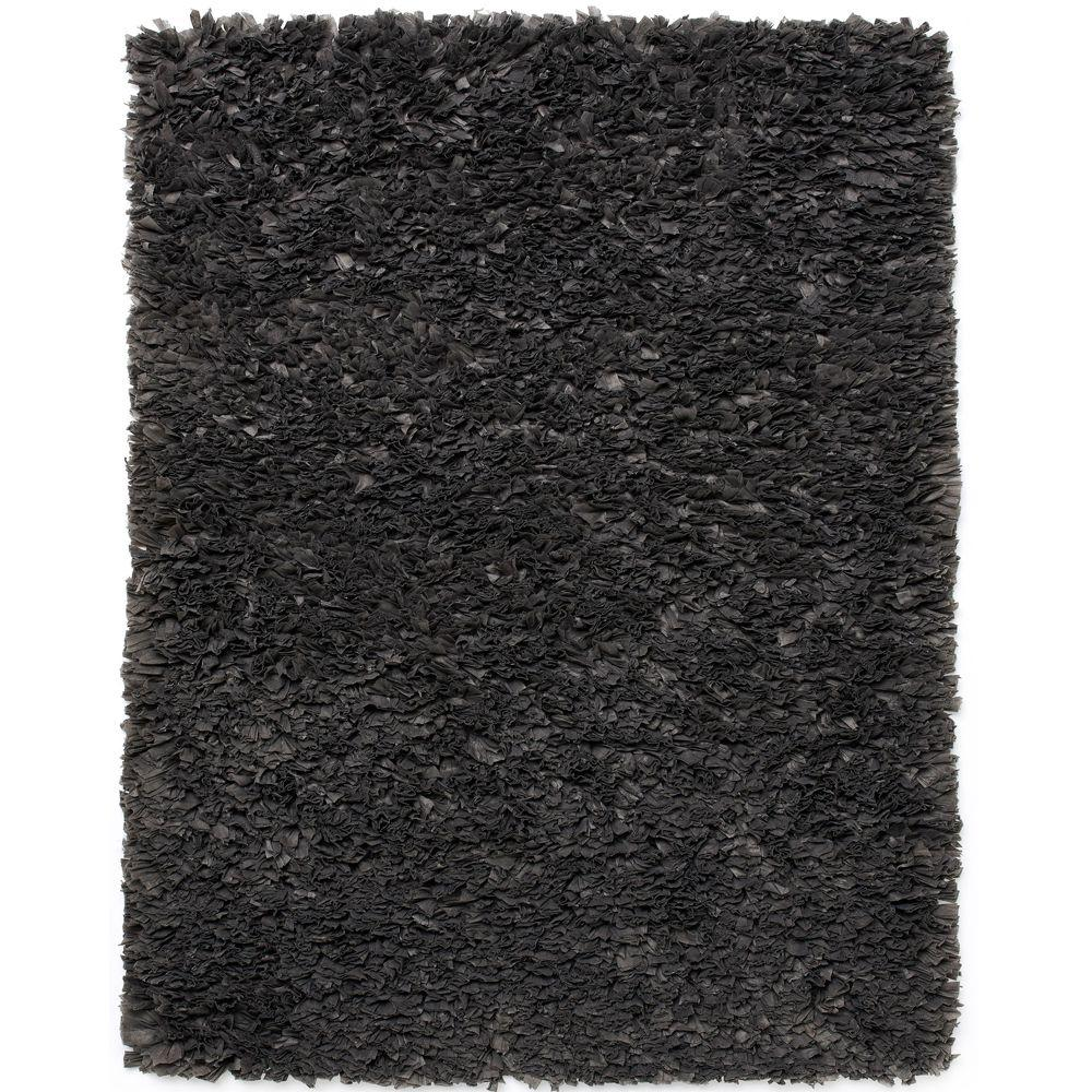 Gray Paper Shag 3 ft. x 5 ft. Area Rug