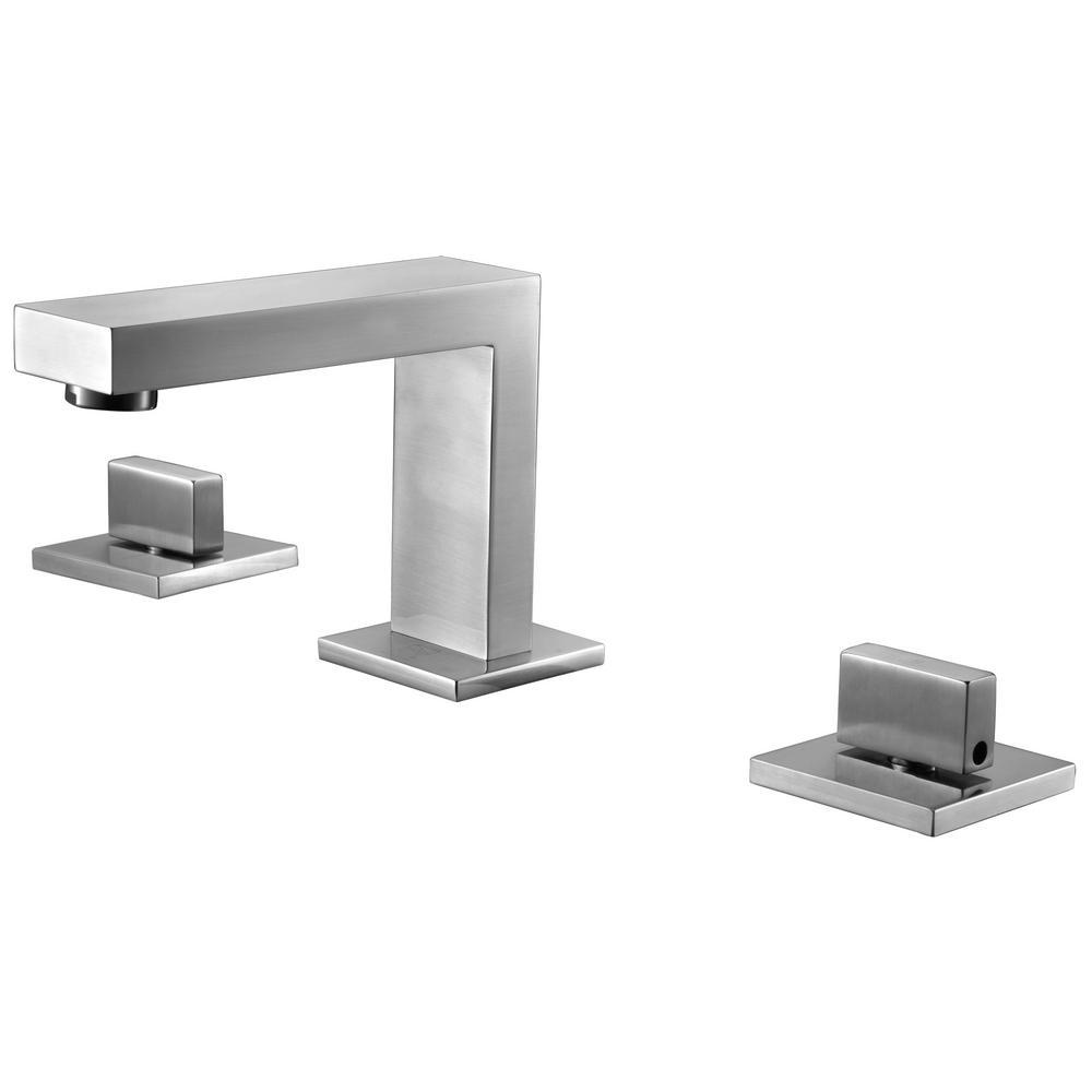 Delta Porter 8 In. Widespread 2-Handle Bathroom Faucet In Brushed Nickel-35984LF-BN-ECO