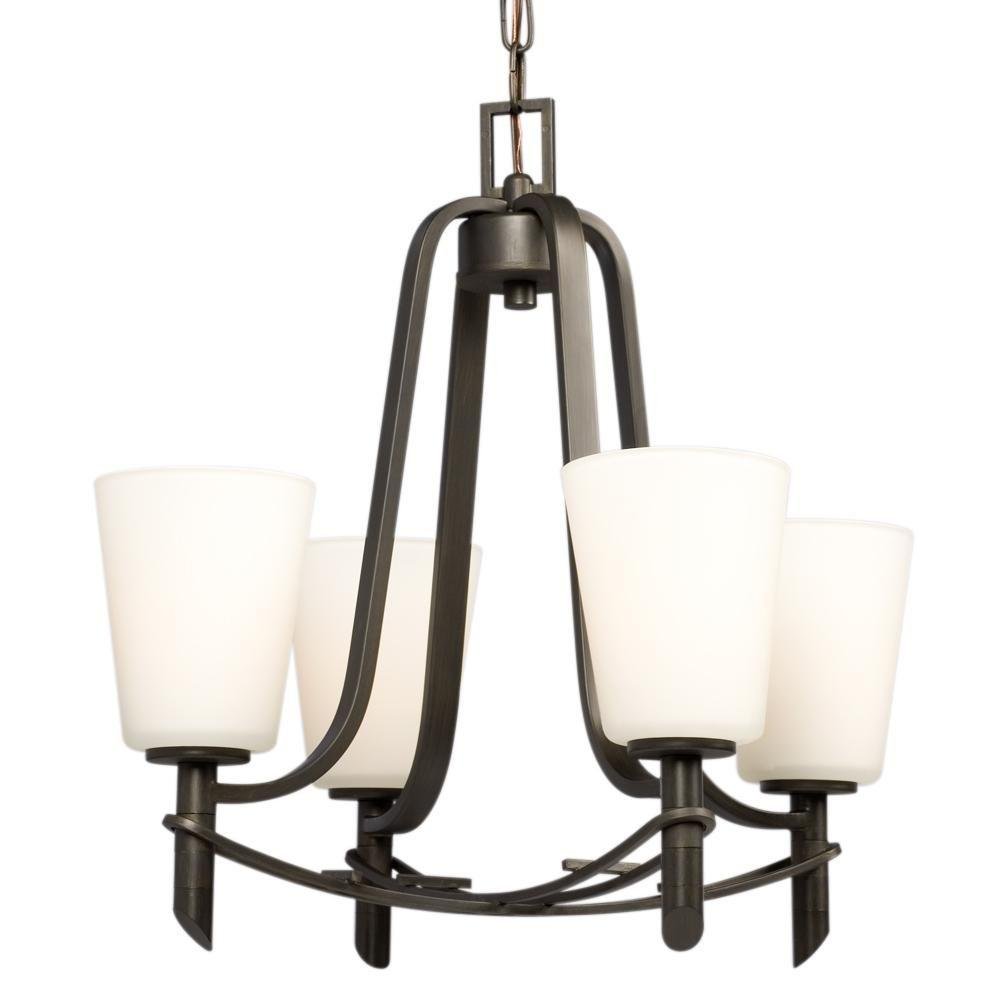 Filament Design Negron 4-Light Oil-Rubbed Bronze Incandescent Chandelier