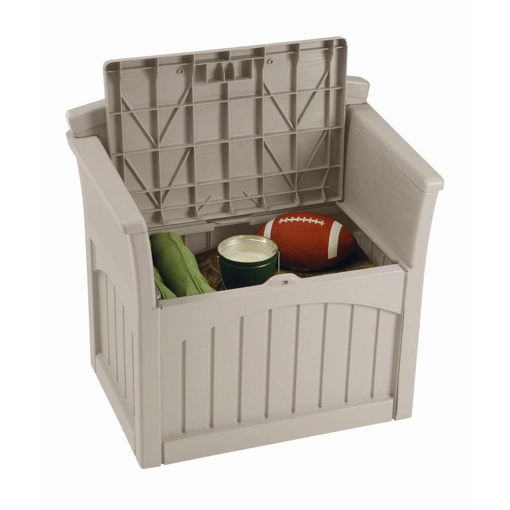 patio storage box outdoor deck yard seat garden porch pool lockable 31 gallon ebay - Patio Storage Box