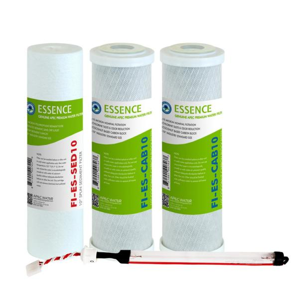 Essence 10 in. Replacement Pre-Filter Set with UV Replacement Bulb for ROES-UV75