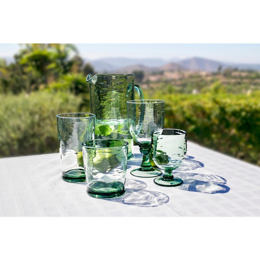 18.4 oz. 6-Piece Cordoba Recycled Green Goblet Set