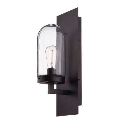 Slater 1-Light Bronze Outdoor Wall Mount Sconce