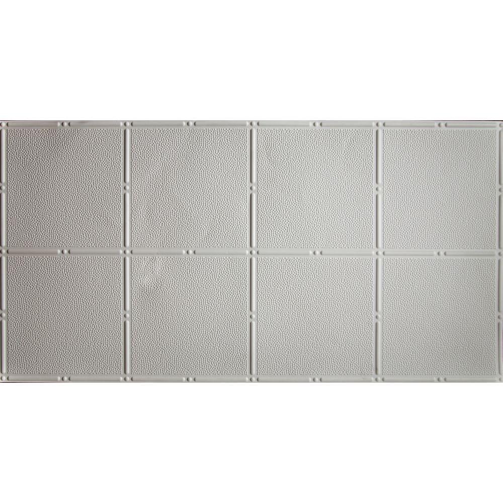 2 ft. x 4 ft. Glue Up Tin Ceiling Tile in Matte White