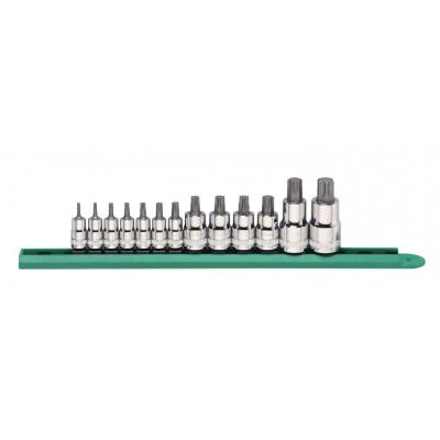 1/4 in., 3/8 in. and 1/2 in. Drive Stubby Torx Bit Socket Set (13-Piece)