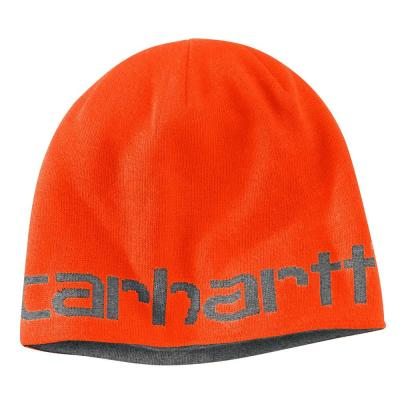a891e5463fdcc Carhartt Men s OFA Brite Orange Acrylic Greenfield Reversible Hat-100137-824  - The Home Depot