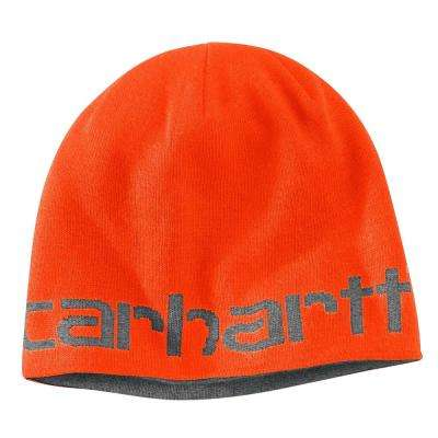 Men's OFA Brite Orange Acrylic Greenfield Reversible Hat