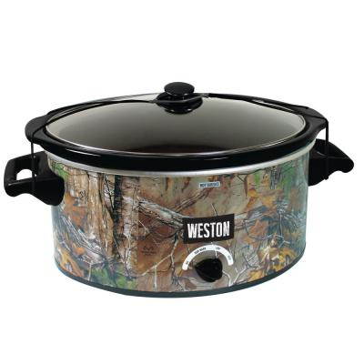 8 Qt. Black Camouflage Slow Cooker with Locking Lid