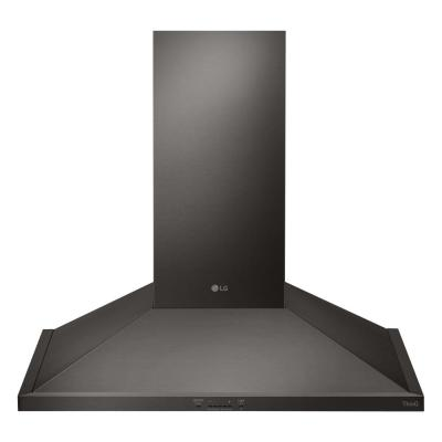 30 in. Smart Wall Mount Range Hood with LED Lighting in Black Stainless Steel