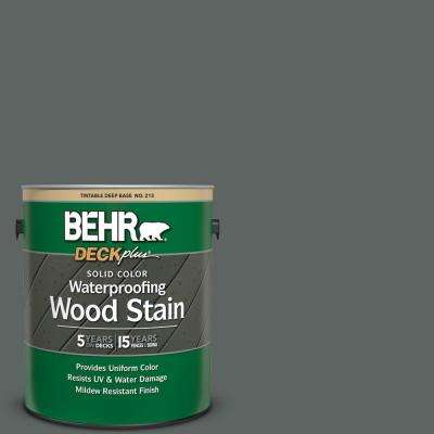 1 gal. #BXC-41 Charcoal Solid Color Waterproofing Exterior Wood Stain