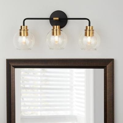 Lawrence 3-Light Aged Bronze and Brass Vanity Light
