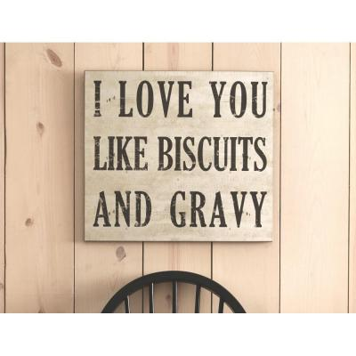 """18 in. H x 20 in. W """"Love You Like Biscuits and Gravy"""" Wall Art"""