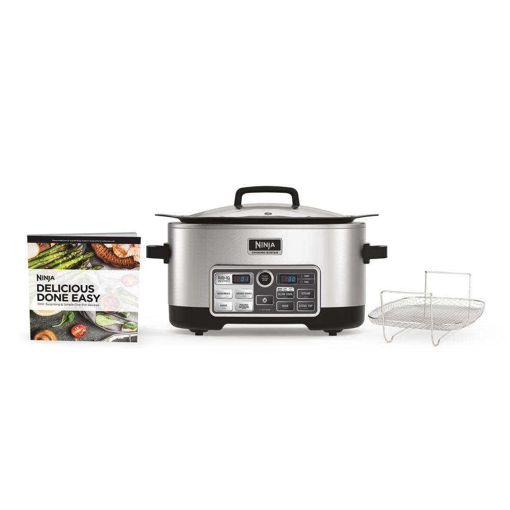 Ninja Corp Cooking System with Auto-iQ Multi-Cooker, Silver