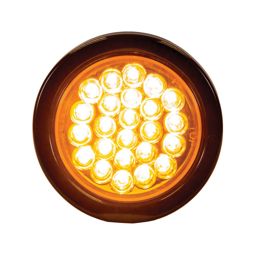 Buyers Products 6 Oval LED Recessed Strobe Light Amber