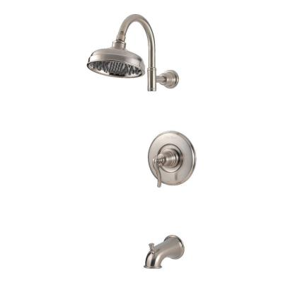Ashfield Single-Handle 1-Spray Tub and Shower Faucet in Brushed Nickel (Valve Included)