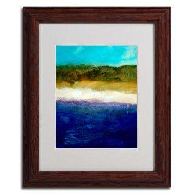 11 in. x 14 in. Abstract Dunes Study Dark Wooden Framed Matted Art