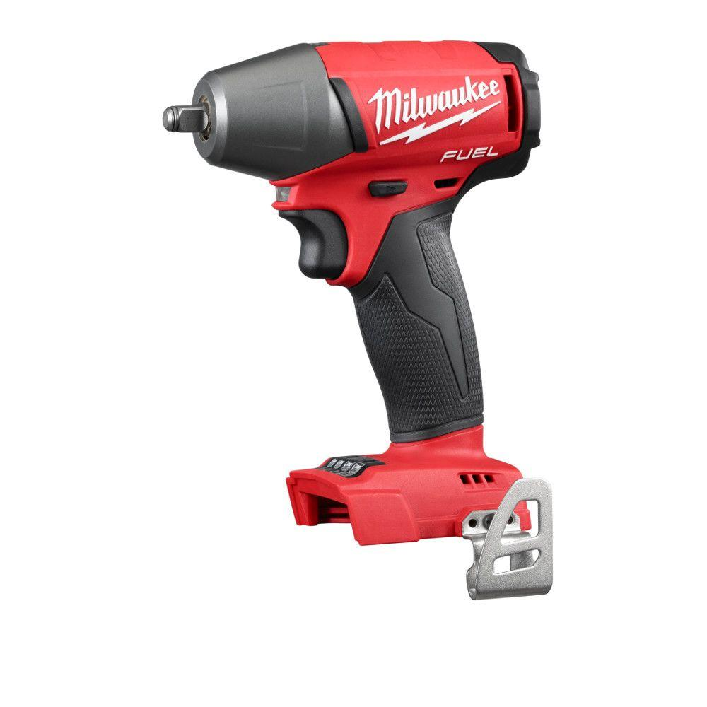 Milwaukee M18 Fuel 18 Volt Lithium Ion Brushless Cordless 3 8 In Compact Impact Wrench With Friction Ring Tool Only