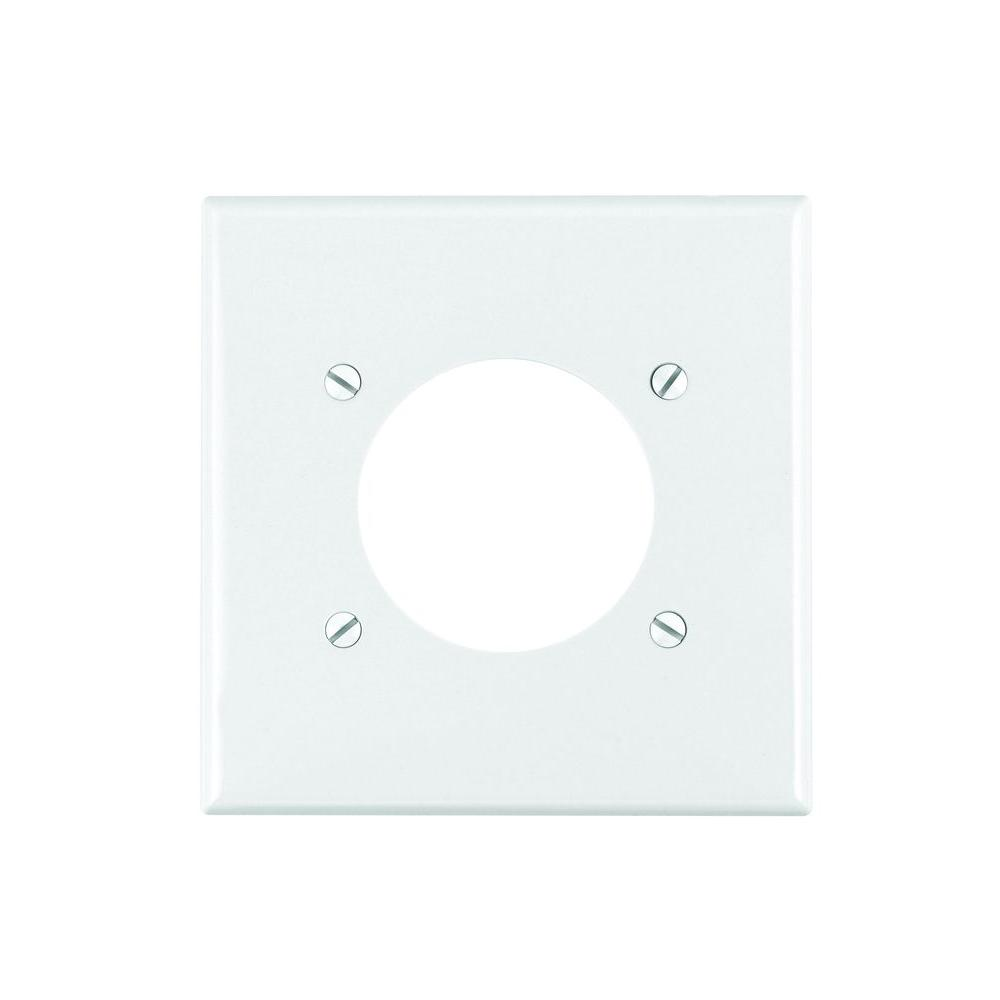 Leviton White 1-Gang Single Outlet Wall Plate (1-Pack)