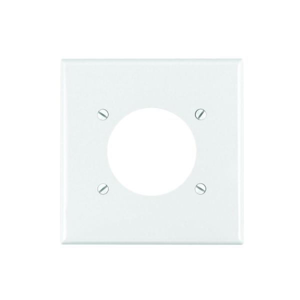 White 1-Gang Single Outlet Wall Plate (1-Pack)