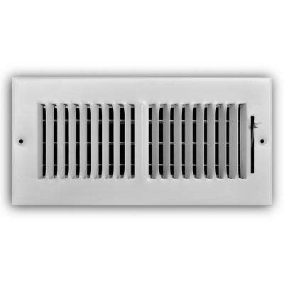 10 in. x 4 in. 2-Way Wall/Ceiling Register