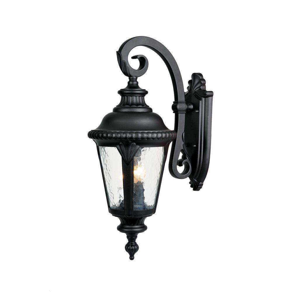 Acclaim Lighting Outdoor Wall Lights Acclaim Lighting Surrey Collection 3-Light Black Gold Outdoor Wall-Mount  Light Fixture-7212BG - The Home Depot