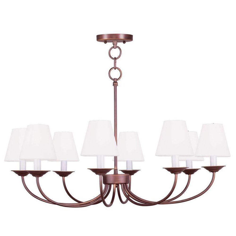 Livex Lighting Providence 8-Light Vintage Bronze Incandescent Ceiling Chandelier