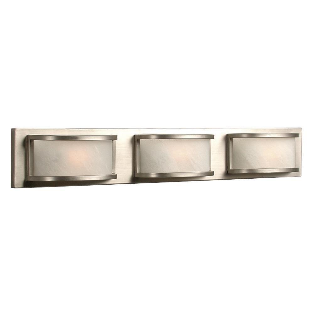 Halogen Bathroom Lights: Filament Design Negron 3-Light Pewter Halogen Bath Vanity