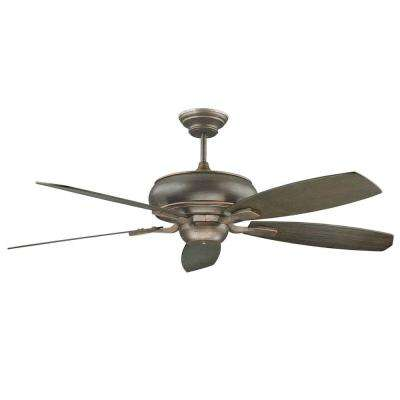 Nevaeh 70 in. Oil Rubbed Bronze Ceiling Fan with 5 Blades