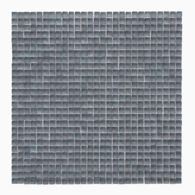 Atlantis Beluga Dark 11-3/4 in. x 11-3/4 in. x 6.35 mm Glass Mesh-Mounted Mosaic Floor and Wall Tile (9.58 sq.ft./case)