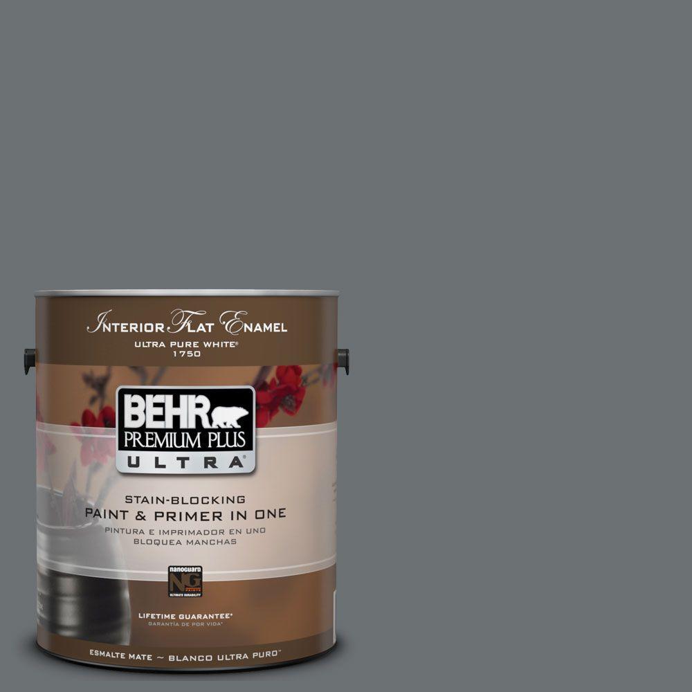 BEHR Premium Plus Ultra 1-Gal. #UL260-21 Antique Tin Interior Flat Enamel Paint