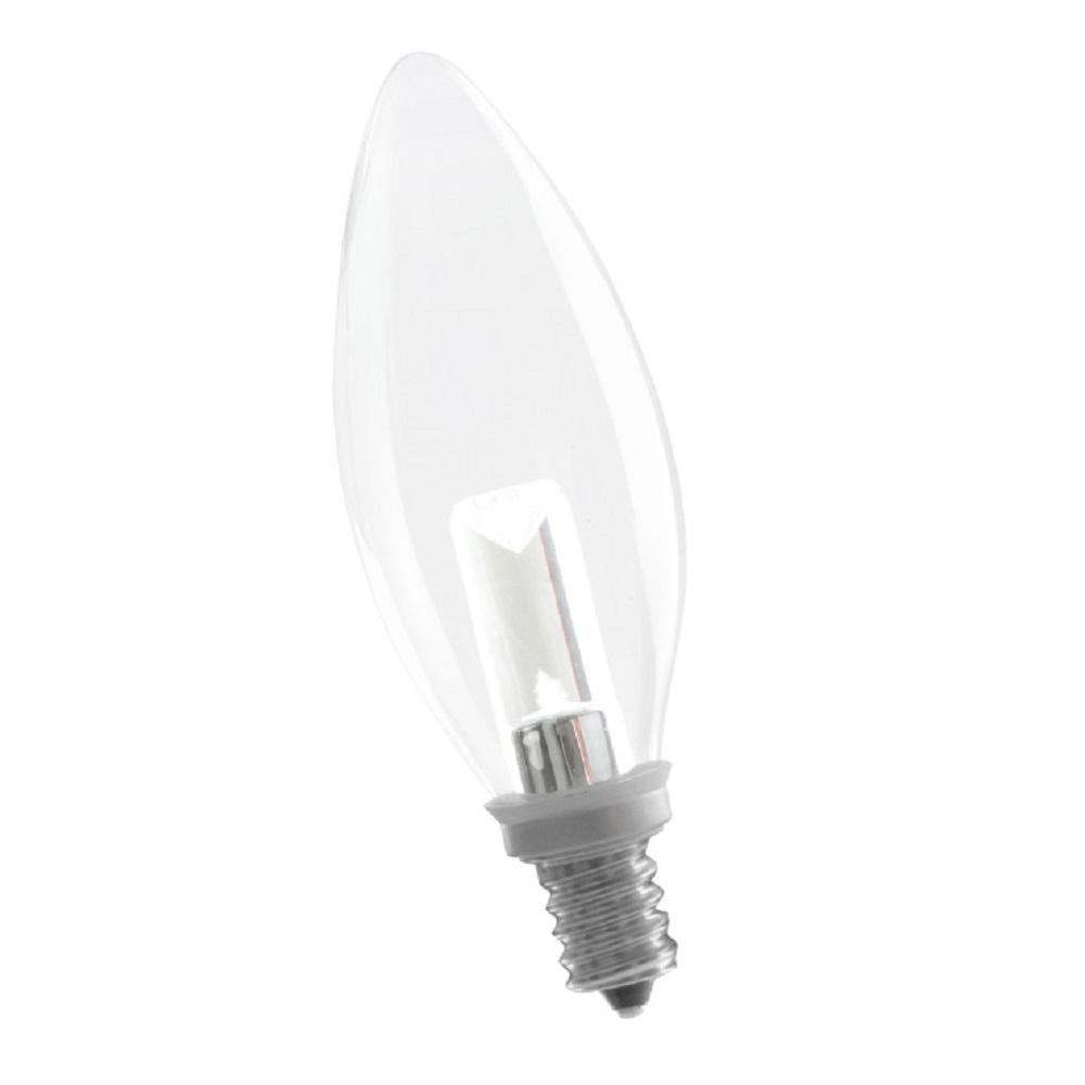 5W Equivalent Soft White B10 Dimmable LED Light Bulb