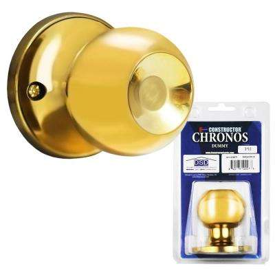 Polished Brass Finish Dummy Door Knob