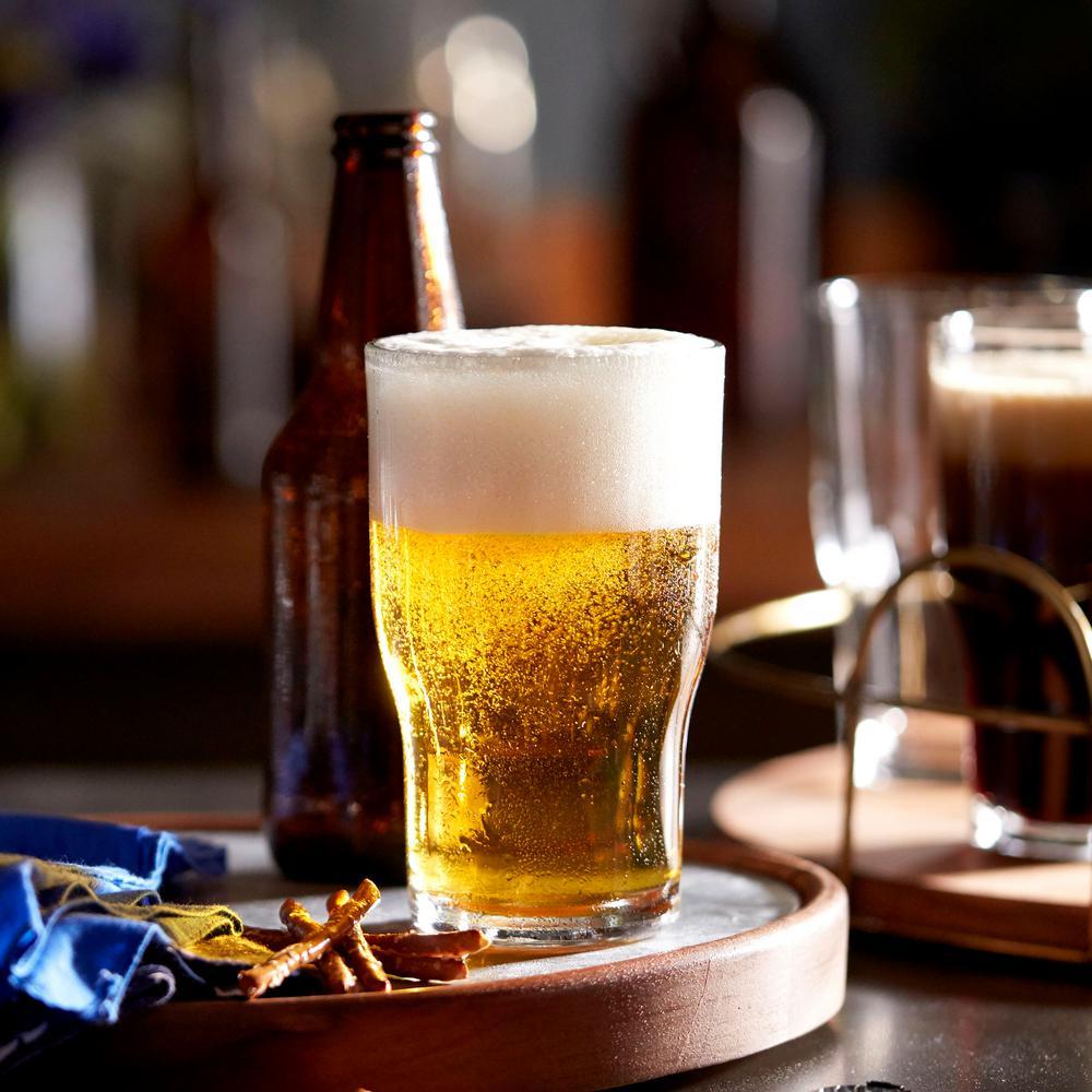 Lager 8-piece Glass Beer Tumbler Set