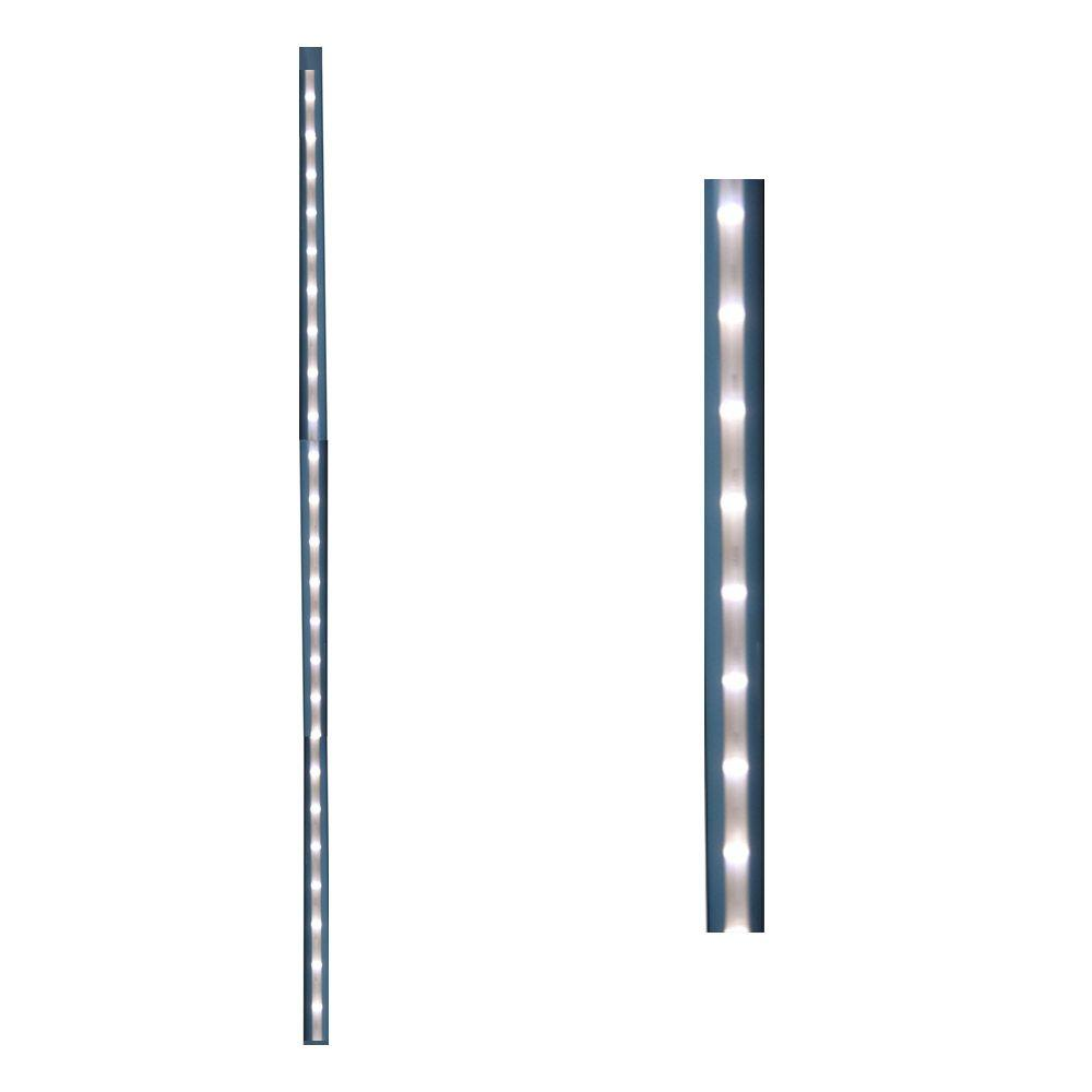 Deck Impressions 26 in. White Linear Lighted Baluster (2-Pack)