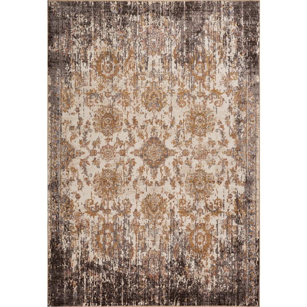 Kas Rugs Manor Ivory/Taupe 5 ft. x 8 ft. Empire Area Rug was $171.0 now $94.05 (45.0% off)