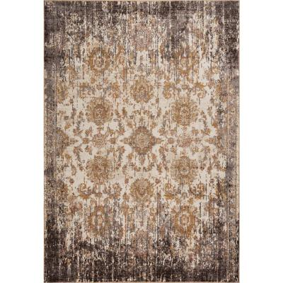 Manor Ivory/Taupe 5 ft. x 8 ft. Empire Area Rug