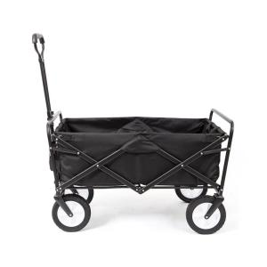 Collapsible Folding Frame Outdoor Garden Utility Wagon Cart in Black (3-Pack)