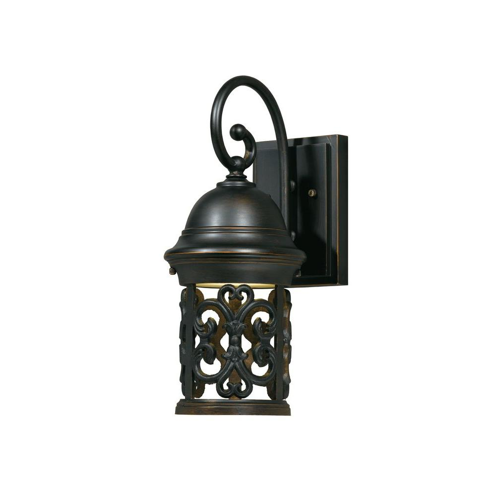 Filament Design Value 1-Light Outdoor Hand Painted Oil Rubbed Bronze Small Wall Sconce